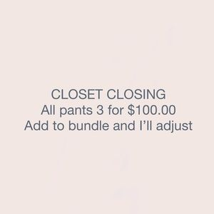 All pants in my closet 3/100